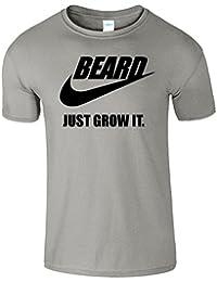 BEARD JUST GROW IT Hommes T-shirt T-shirt de slogan drôle