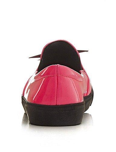 ShangYi gyht Scarpe Donna - Mocassini - Tempo libero / Casual - Comoda / Punta arrotondata - Piatto - Vernice - Nero / Rosa Pink