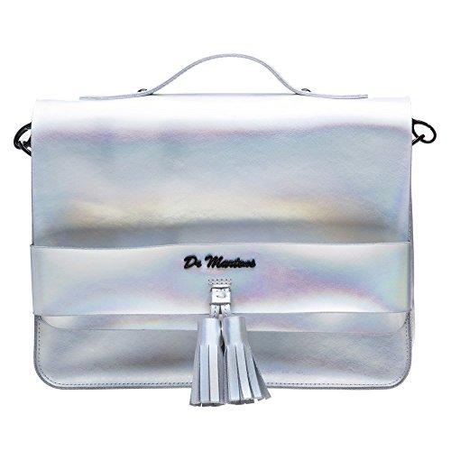 Dr. Martens Reflective Metallic Damen Handtasche Grau