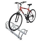 Râtelier vélo 3 vélos | Range vélo | Système range vélo | Rangement pour vélo | Support pour bicyclette sol ou mural | En acier revêtu | Support de rangement vélo jardin ou garage | Râtelier familial