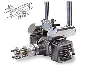 AGM® 60cc jumeaux Cylindres Essence Avions 7.0HP moteur avec allumage CDI et Muffler VS DLE 60cc