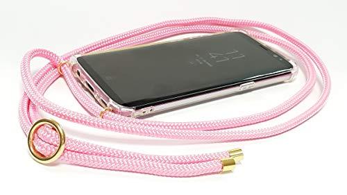 Pink Cinnamon Handykette mit Smartphone Hülle Handmade Handyhülle Carry Case Handy-Band Handy-Seil Handy-Tasche Necklace für iPhone 6/6S Band: Rose Pink, Metallteile: Gold
