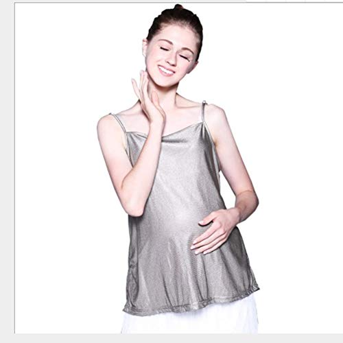 GXRZYCLH Radiation Anzug Umstandskleid Kleiderschlinge zur Arbeit tragen Silberfaser Strahlung Reifen Schürze Frühling und Sommer,L (Das Tragen Eines Kostüm Zu Arbeiten)