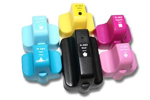 6x Cartouches compatible pour HP Photosmart n°