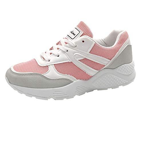 Jiameng scarpe running uomo da ginnastica, scarpe sneakers estive eleganti donna, scarpe da corsa uomo sportive, scarpe uomo stringate - equipaggi, scarpe da ginnastica running (rosa,eu 35)