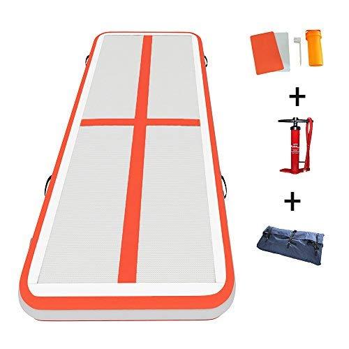 Darget Gymnastikreifen aufblasbar Air Tumbling Matte/Tracks/Home Set/Training/Magnettafel/geneigt Matte mit gratis Pumpe, Air Floor:3m /9.8'x 1m /39