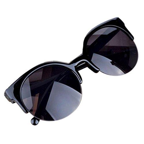 Cloud ROM Vintage Sonnenbrille Cat Eye Halbrand Runde Sonnenbrille für Männer Frauen Sonnenbrille Klassische Aviator Polarisiert Sonnenbrille Verspiegelt Schützen Linse Fashion Sonnenbrillen (B)