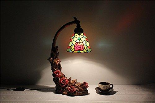ILQ 6 Zoll rosa und lila kleine Blumen Kunstwerke, Kinder 's Schlafzimmer Nacht Nacht Licht Glasmalerei - Lila Glasmalerei