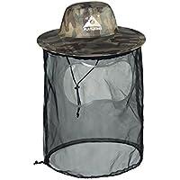 DECHO-C Sombrero de camuflaje para pesca, antimosquitos, caza, caza, capucha, apicultura, protección contra mosquitos de abeja, para jardinería, camping, senderismo, apicultura, Army Green