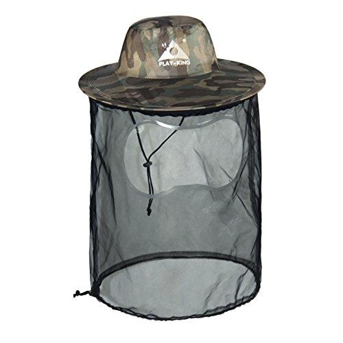 DECHO-C Camo Bucket Hat Angeln Anti-Mosquito Jagd Mesh Cap Imker Hut Schutz vor Bug...