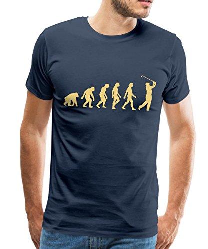 Golf Évolution Du Singe Au Golfeur T-shirt Premium Homme de Spreadshirt®, M, bleu marine