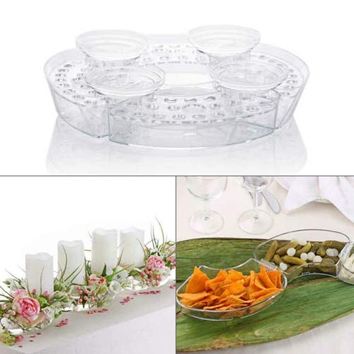 Velou Gesteck Set zum Dekorieren/Basteln für Blumen Gestecke und/oder als Kerzenständer aus Acryl Glas - Geeignet für Stabkerzen, Stumpenkerzen und Teelichter (Gesteckset 18-teilig)