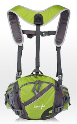 Cinny multifunktionale outdoor Wandern Reiten Schultern enger Taschen Green