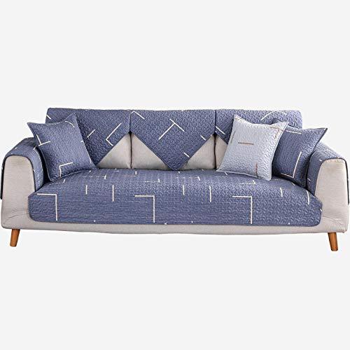 fundas de sofa anti gatos,Fundas de cojín de sofá antideslizante de cuero en forma de L,acolchado de sarga de primavera verano otoño invierno,funda de sofá de tela,alfombra de juego para niños-C_90: Amazon.es: