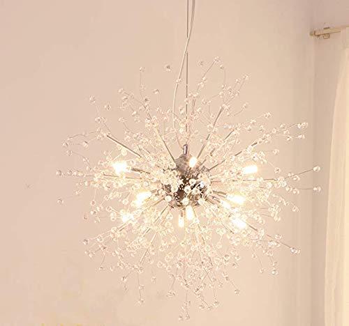 Kronleuchter Feuerwerk LED Licht Edelstahl Kristall Anhänger Beleuchtung Deckenleuchten Kronleuchter Beleuchtung, Durchmesser 23,5 Zoll-B -