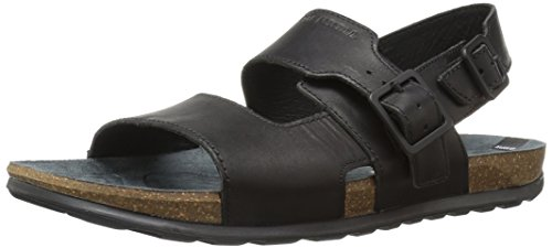 Merrell Herren Downtown Backstrap Buckle Sandalen, Schwarz (Black), 47 EU
