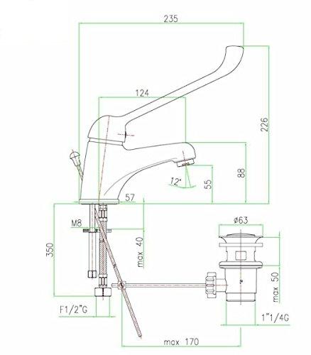 Zoom IMG-1 monocomando per lavello rubinetto lavandino