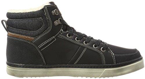 Dockers by Gerli 41mc103-610134, Sneaker a Collo Alto Uomo Nero (Schwarz/hellbraun)