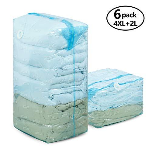 cd109fcd45cc15 TAILI Cube Vakuum Aufbewahrungsbeutel Jumbo (funktioniert mit jedem  Staubsauger) Extra große komprimierte Platz Saver Taschen für Kissen  Tröster 4X(80 x 100 ...