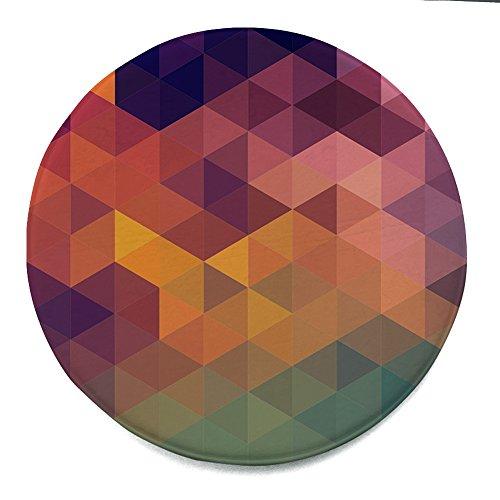 Matte Home Decor (Qinlee Rund Teppich Geometrie Muster Matten Anti Rutsch Decke Fußmatte Türmatte Home Decor für Wohnzimmer Kinderzimmer Büros (Bunt))