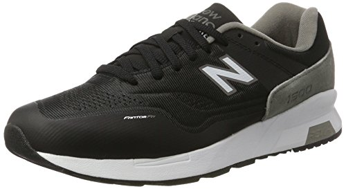 New Balance Herren 1500 Synthetic Ausbilder, Schwarz (Black with Grey/White), 43 EU (New Balance Herren Frühling)