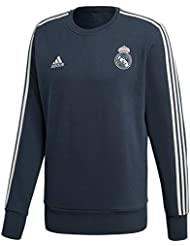 adidas Real Madrid Sweat Top Sudadera, Hombre, Tech Onix/Core White, Extra