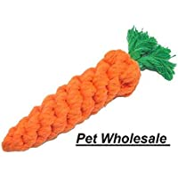 Pet Carrot Shape Dog Rope Toy for Small Dogs (Color May Vary)