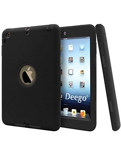 iPad Mini 2Hülle, iPad Mini 3, Vogue Shop Dämpfung Smart Slim Fit Hardcase Bumper Fällen und Drei Schicht Armor Defender Full Body Schutzhülle für Apple iPad Mini 123Tablet (Schwarz)