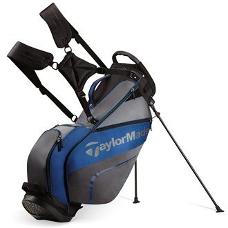 TaylorMade 2016 Pro Stand 4.0 Stand Bag Mens Carry Golf Bag 5-Way Divider Gray/Black/Blue