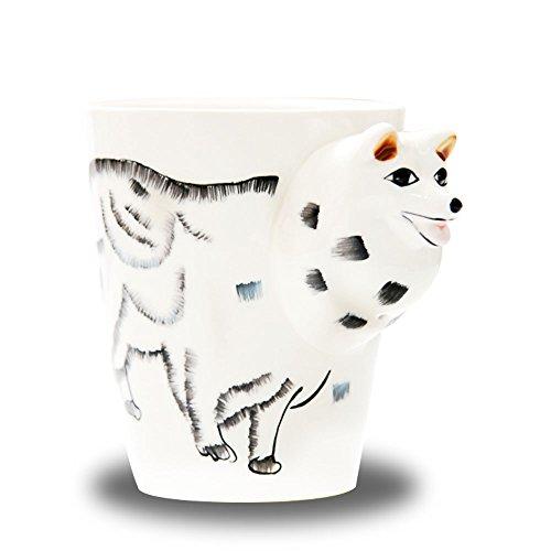Haehne 3D Taza, Pura Pintado a Mano Lindo Animal de Leche de Cerámica Taza de Café Taza de Café Finer Tienda Creativa Tazas de Desayuno