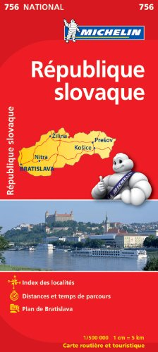 Carte NATIONAL Rpublique slovaque par Collectif Michelin