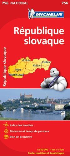 Carte NATIONAL Rpublique slovaque par Collectif Michelin
