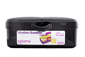 sistema slimline lunchbox quaddie mit 4 f chern schwarz. Black Bedroom Furniture Sets. Home Design Ideas