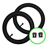 2 x MOUNTAIN BUGGY SWIFT Pushchair / Stroller Inner Tubes 10' / 10 1/2' - 90º Bent / Angled Valve + FREE Delivery + FREE Upgraded BALDWINS Branded Metal Valve Caps (Worth £2.99)