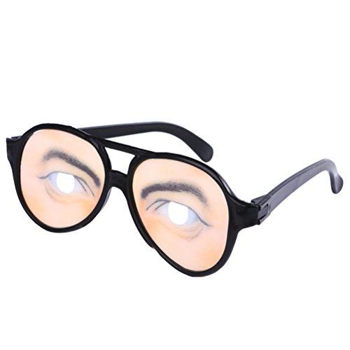 (Amosfun Lustige Gläser Hilarious Eyewear Disguise Brillen für Halloween Fools Day Decor Halloween Kostüme (Mann))