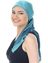 Reversibel Kopftücher, Schal Fur Haarverlust, Krebs, Chemo (100cmx100cm)
