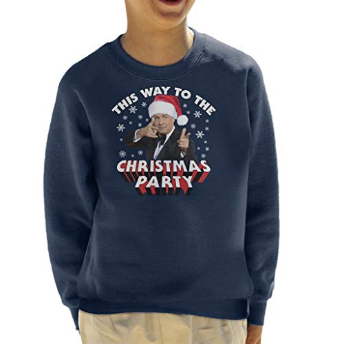 (Coto7 Tom Hanks This Way to The Christmas Party Kid's Sweatshirt)