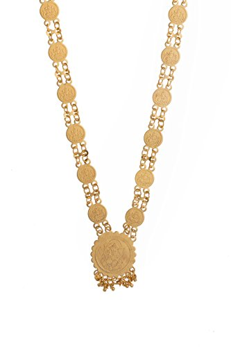 Shining Jewel 24K Gold Coin Long Necklace (SJ_2167)  available at amazon for Rs.391