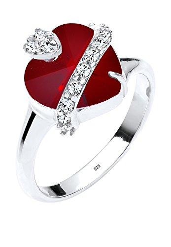 Elli Damen-anillo en forma de corazón