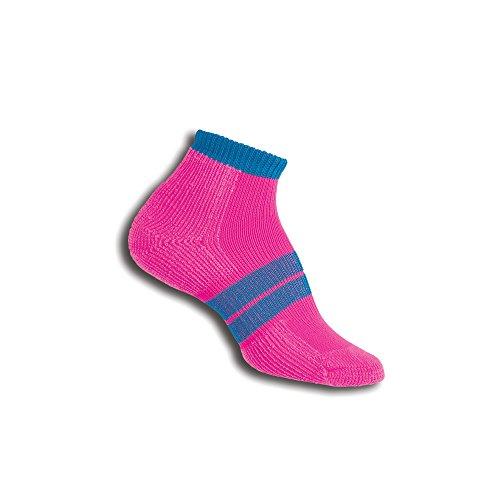 Thorlos Damen 84N RUNNER No Show Socken Größe L Electric Pink/Blue Aster (Nike-womens Rosa Socken)