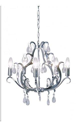 Kare design - Lustre baroque chrome et verre Kristal