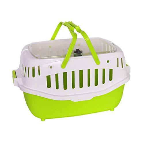 YULAN Einkaufskorb Pet Box Demontage Käfig Tragen Katze Tragbare Reise Transport Auto Heraus Versand 3 Farbe 58 * 42,5 cm (Color : Green) - Hunter Green-drei Taschen