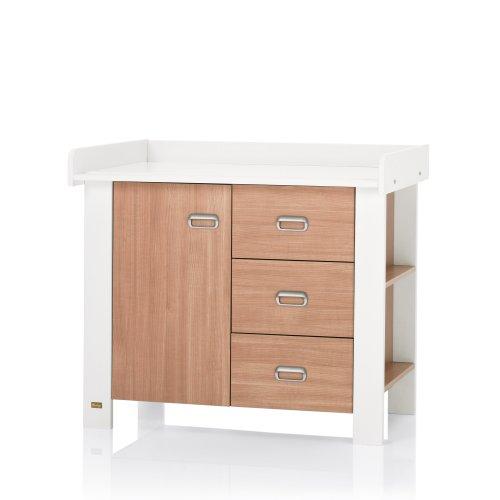 wickelkommode nussbaum wei. Black Bedroom Furniture Sets. Home Design Ideas