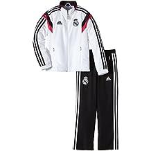 adidas Trainingsanzug Real Madrid Präsentations - Prenda, color blanco (top:white/black/blast pink f13 bottom:black/white), talla de: 176