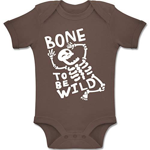 to me Wild Halloween Kostüm - 12-18 Monate - Braun - BZ10 - Baby Body Kurzarm Jungen Mädchen ()