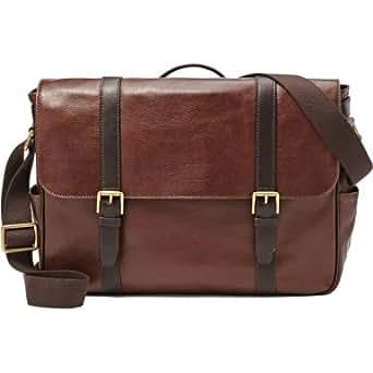 Fossil MBG9153201 Mens Estate Ark Brown Ew Messenger Bag