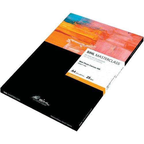 Sihl MASTERCLASS Matt Photo Canvas 4851, 12034010, DIN A4, 400 g/m², Polyester-Baumwollgewebe, 25 Blatt