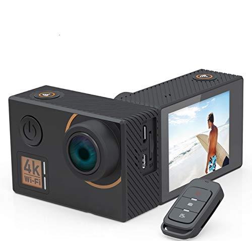 ZYJANO Action Kamera Mit Live Stream Cam 4K Ultra HD Action-Kamera mit Gyro-Stabilisator, Fernbedienung für Unterwasser-Sportkameras (Kamera Live-stream)