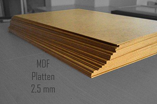 3.Stck. 70 x 90 cm MDF Platten 2,5 mm stark dick Holz Bastelmaterial Möbel Mitteldichte Holz Faserplatten Brett