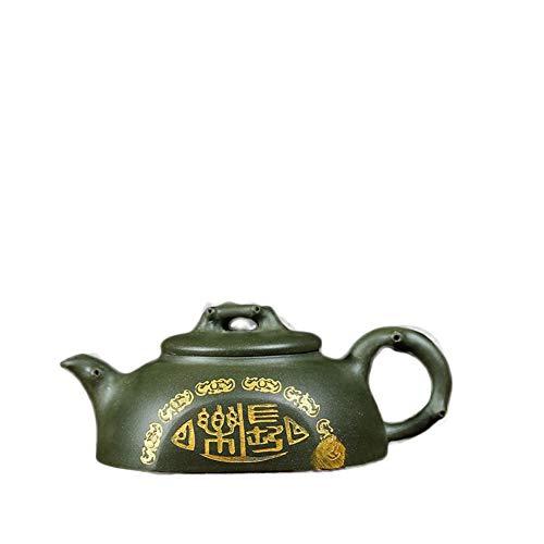 MADONG Tee-Set Yixing volle handgemachte Erz lila Sand Topf Minguo grünen Tontopf Ziegel quadratische Teekanne (Color : Republic of China Green Mud)